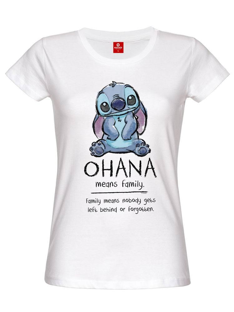 Lilo & Stitch Ladies T-Shirt Ohana Means Family Size S