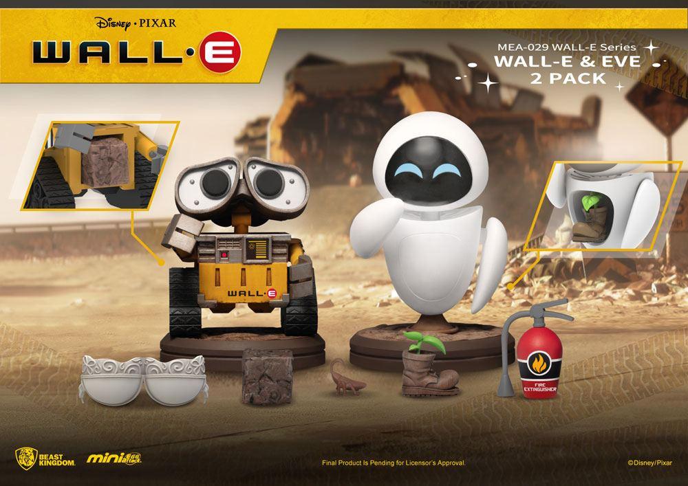 Wall-E Mini Egg Attack Figures 2-Pack Wall-E Series Wall-E & Eve 8 cm