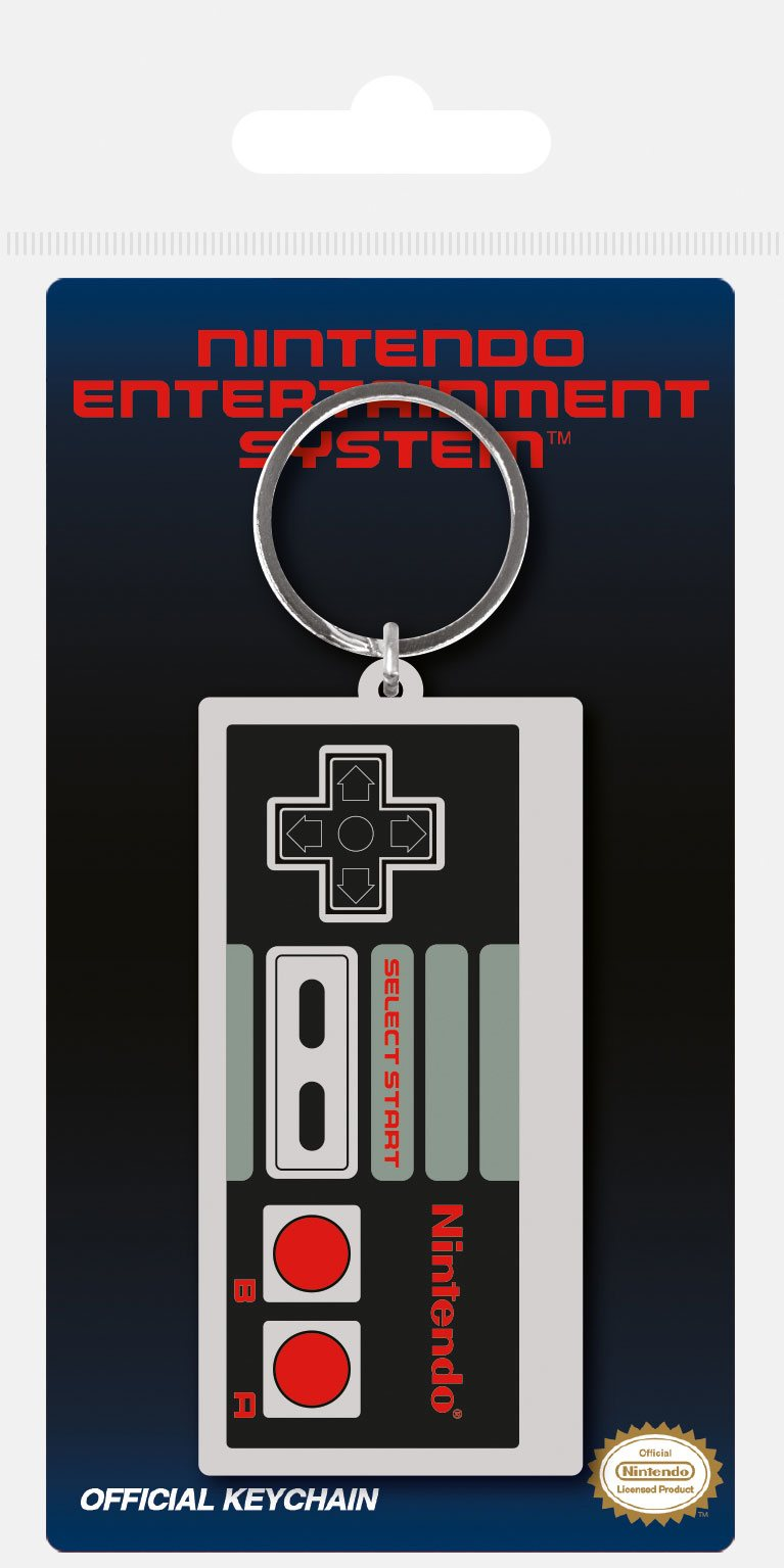 Nintendo Rubber Keychain NES Controller 6 cm
