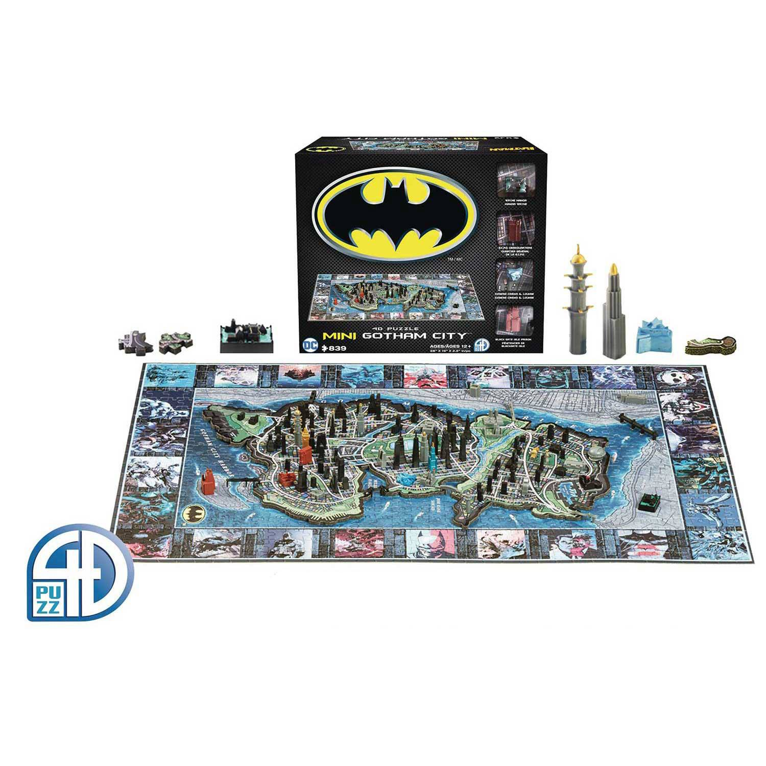 Batman 4D Mini Puzzle Gotham City (839 pieces)