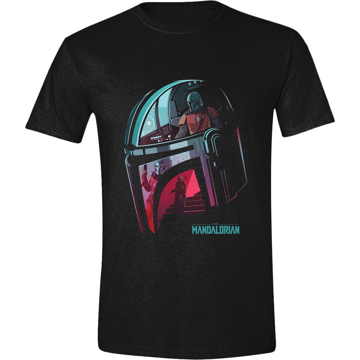 Star Wars The Mandalorian T-Shirt Reflection Size L