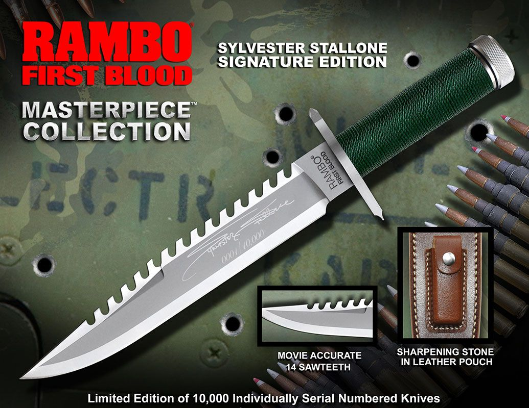 First Blood Replica 1/1 Knife Masterpiece Collection Sylvester Stallone Signature Edition 36 cm