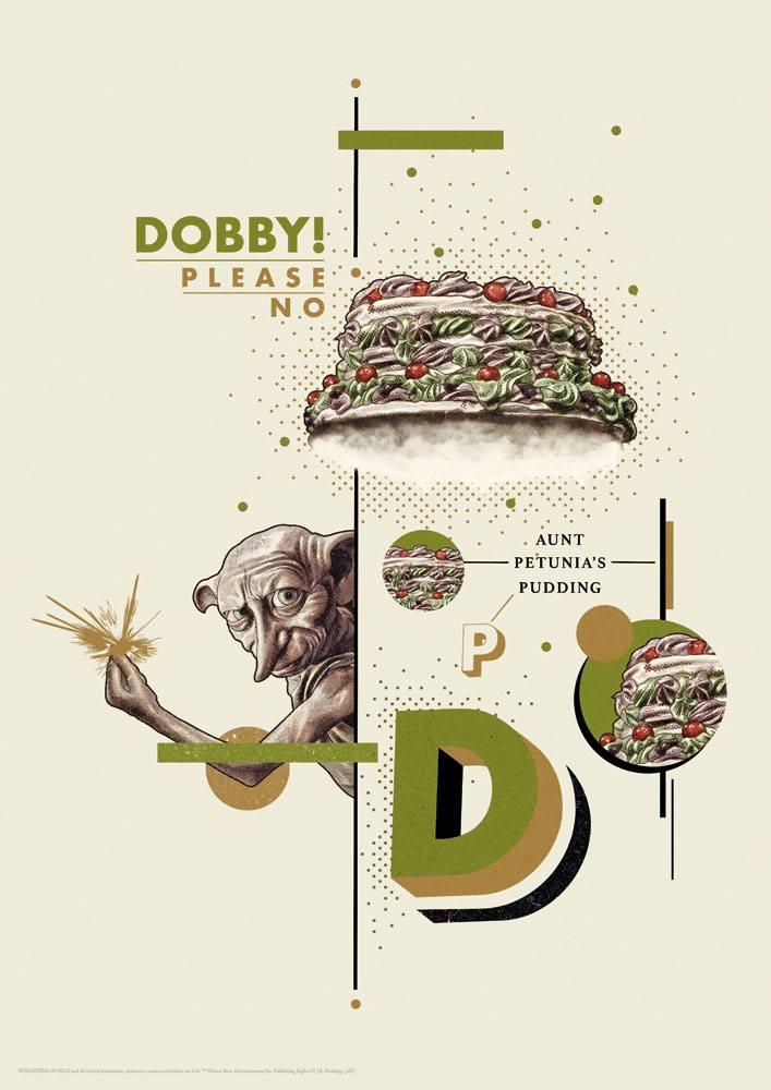 Harry Potter Art Print Dobby 42 x 30 cm