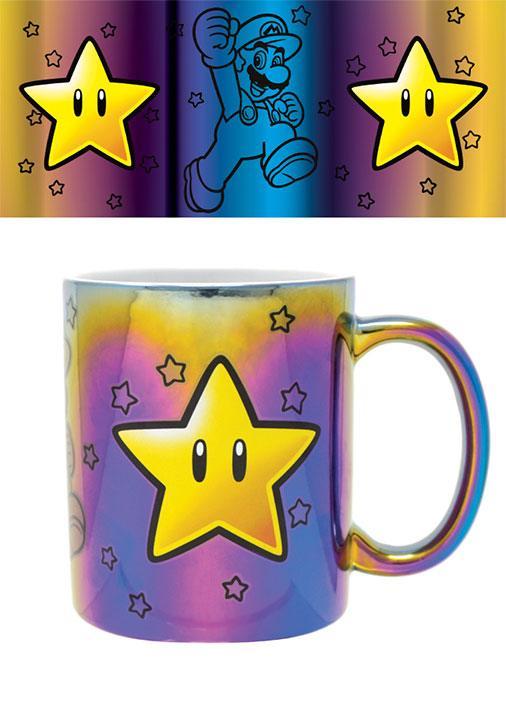 Super Mario Metallic Mug Star Power