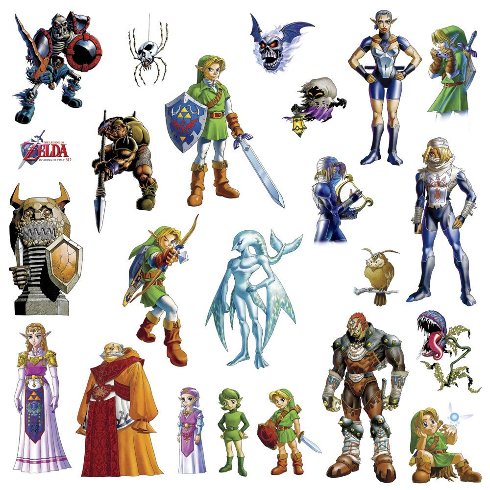 The Legend of Zelda Giant Vinyl Wall Decal Set Ocarina of Time 3D