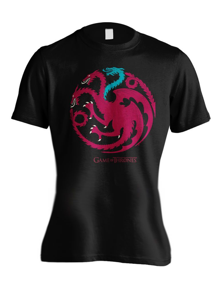 Game of Thrones Ladies T-Shirt Ice Dragon Size S