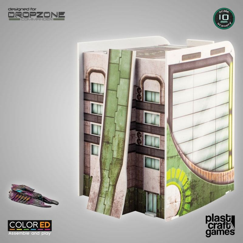 Dropzone Commander ColorED Miniature Gaming Model Kit 10 mm Corporation Building
