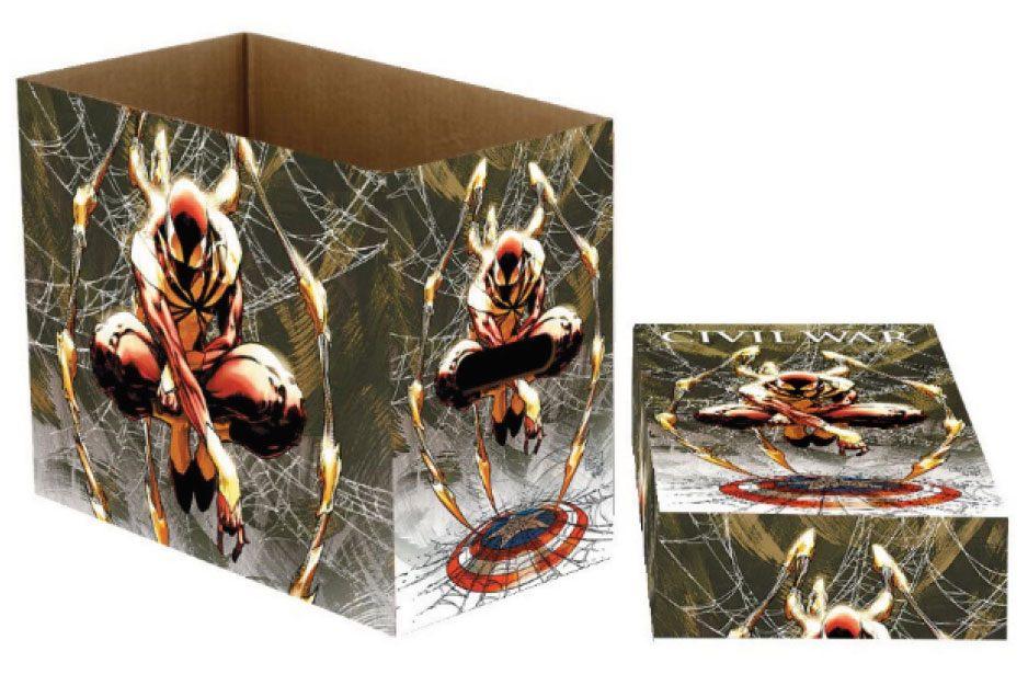 Marvel Comics Storage Boxes Spider-Man Web 23 x 29 x 39 cm Case (5)