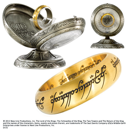 Lord of the Rings Stainless Steel Ring The One Ring (gold plated) Size 07
