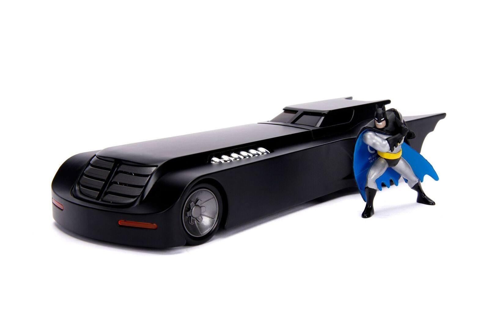Batman Animated Series Metals Diecast Model 1/24 Batmobile with figure