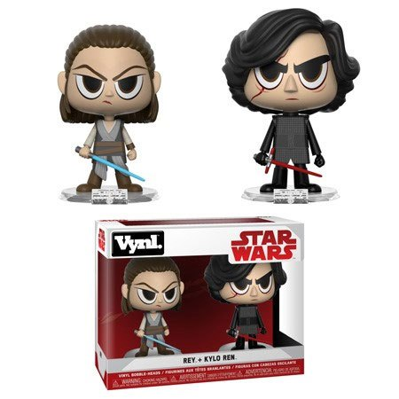 Star Wars VYNL Vinyl Figures 2-Pack Rey & Kylo 10 cm