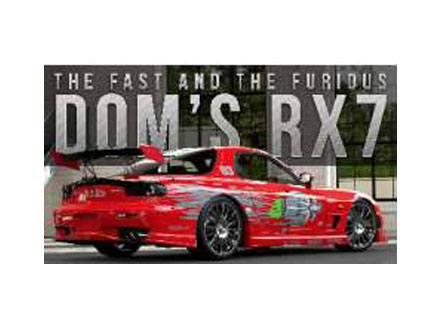 Fast & Furious Diecast Model 1/32 Dom's 1995 Mazda RX-7