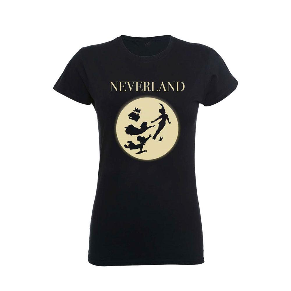 Disney Ladies T-Shirt Peter Pan Moon Silhouettes Size XL