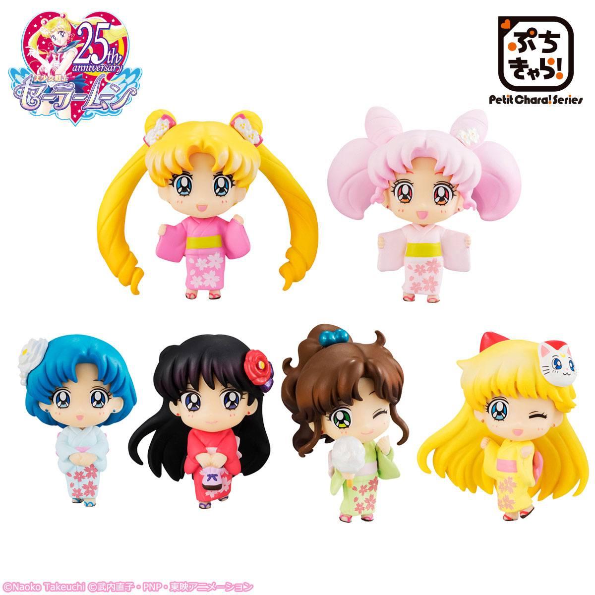 Sailor Moon Petit Chara Trading Figure 6 cm Cherry Blossom Festival Ver. Assortment (6)