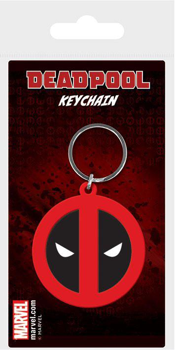 Marvel Comics Rubber Keychain Deadpool Symbol 6 cm