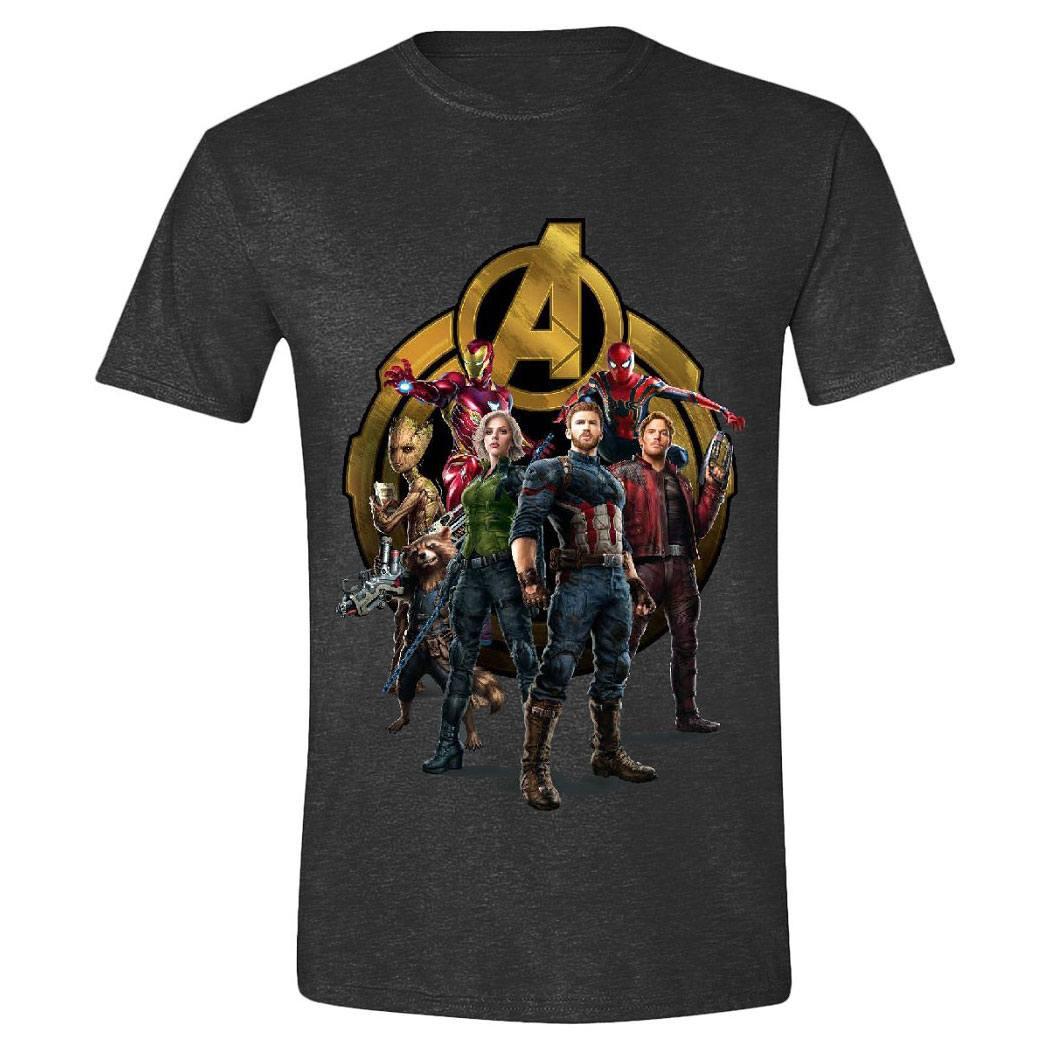 Avengers Infinity War T-Shirt Characters Posing Size L