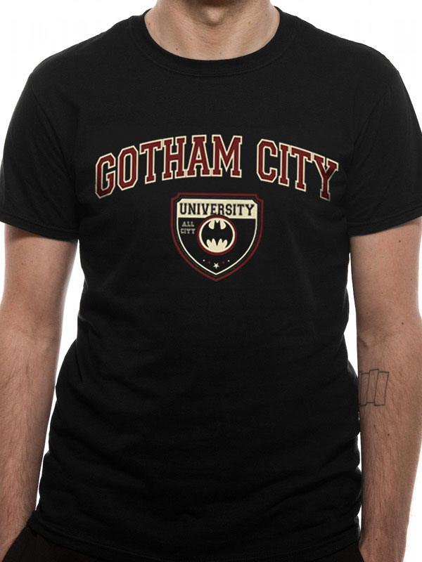 Batman T-Shirt Gotham City University Size M