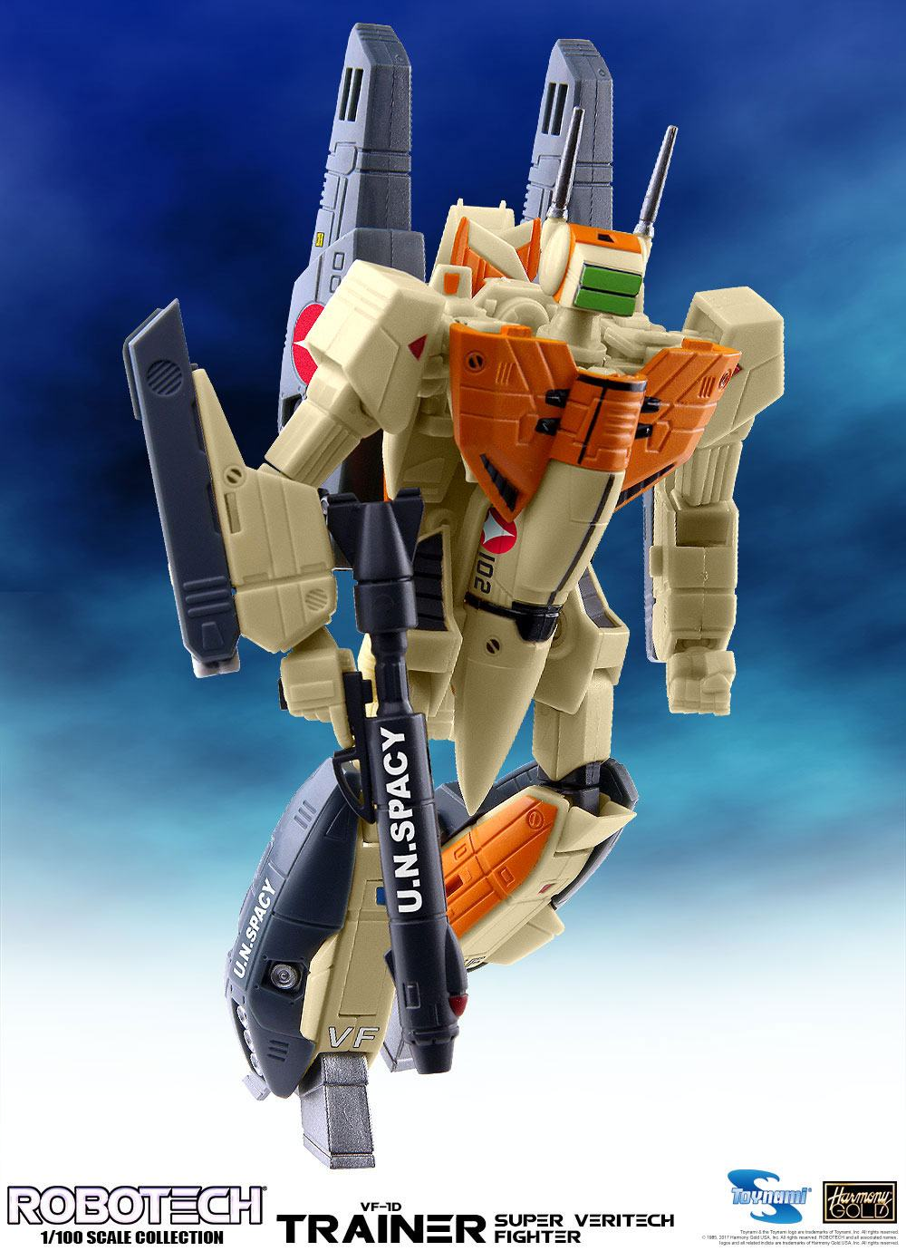 Robotech Super Veritech Fighter Collection Action Figure 1/100 VF-1D Super Veritech Trainer 15 cm