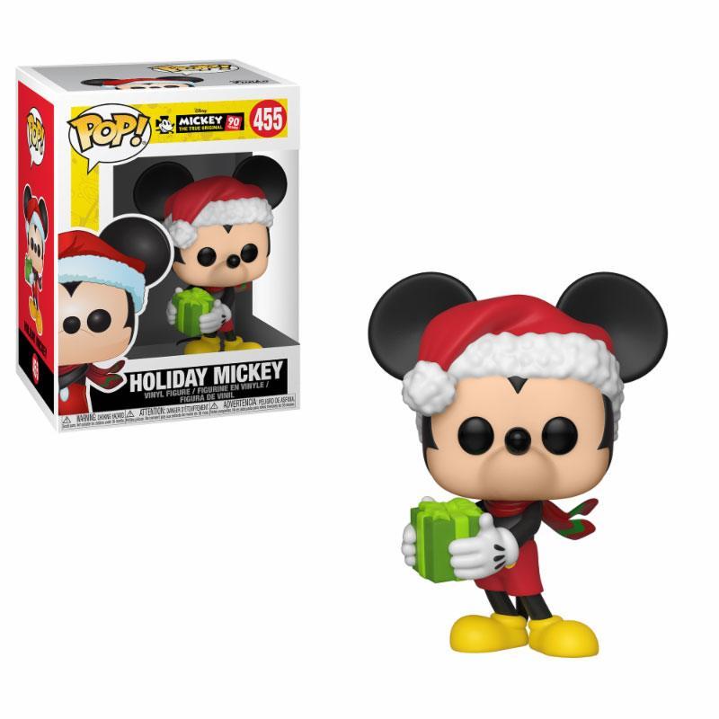 Mickey Maus 90th Anniversary POP! Disney Vinyl Figure Holiday Mickey 9 cm