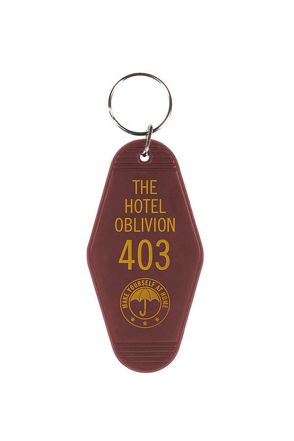 The Umbrella Academy Keychain Hotel Oblivion 9 cm