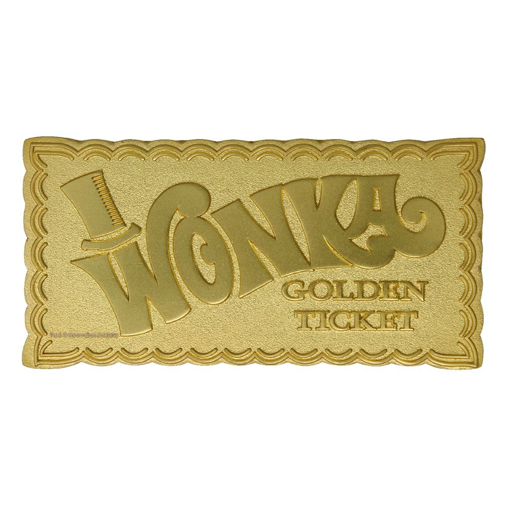 Willy Wonka & the Chocolate Factory Replica Mini Golden Ticket (gold plated)