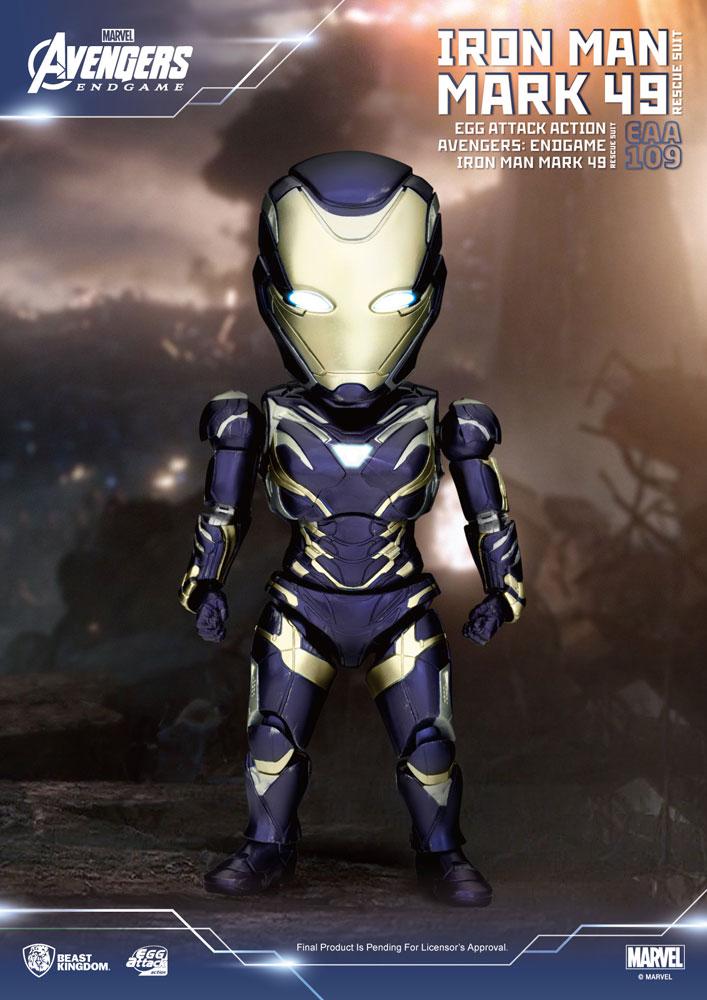 Avengers: Endgame Egg Attack Action Figure Iron Man Mark 49 Rescue Suit 21 cm