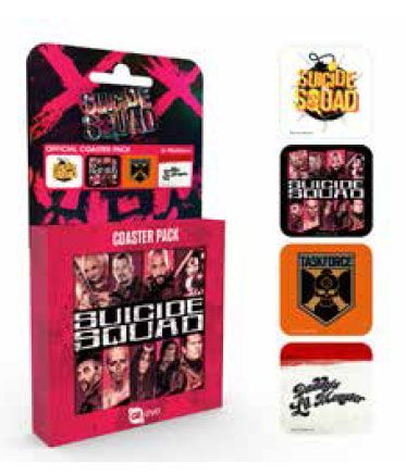 Suicide Squad Coaster 4-pack Mix