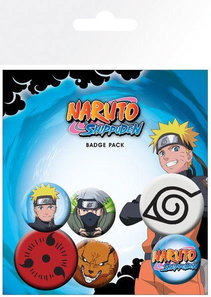 Naruto Shippuden Pin Badges 6-Pack Mix