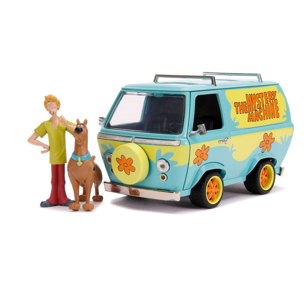 Scooby Doo Hollywood Rides Diecast Model 1/24 Mystery Van with Figures