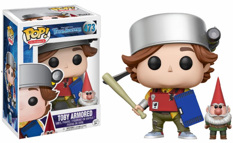 Trollhunters POP! Television Vinyl Figure Toby Armored & Gnome 9 cm