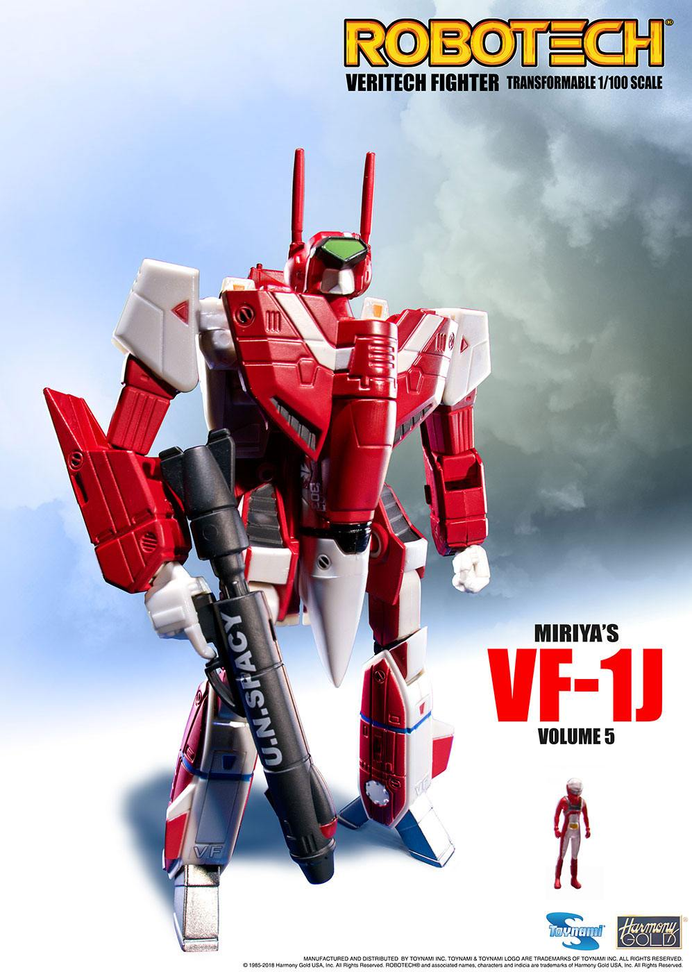 Robotech Veritech Micronian Pilot Collection Action Figure 1/100 Miriya Sterling VF-1J 15 cm