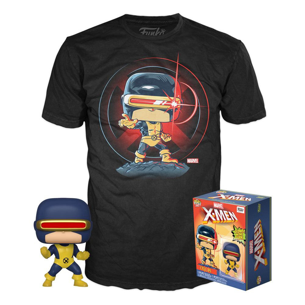 Marvel 80th POP! & Tee Box First Appearance Cyclops  Size XL