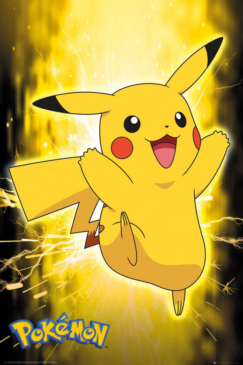 Pokémon Poster Pack Pikachu Neon 61 x 91 cm (5)