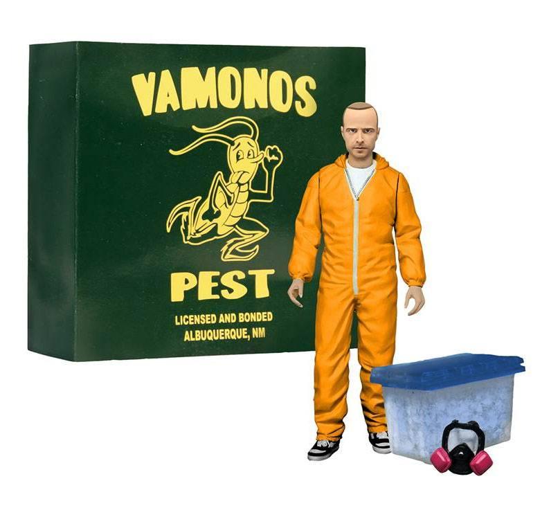 Breaking Bad Deluxe Action Figure Jesse Pinkman in Orange Hazmat Suit heo E --- DAMAGED PACKAGING