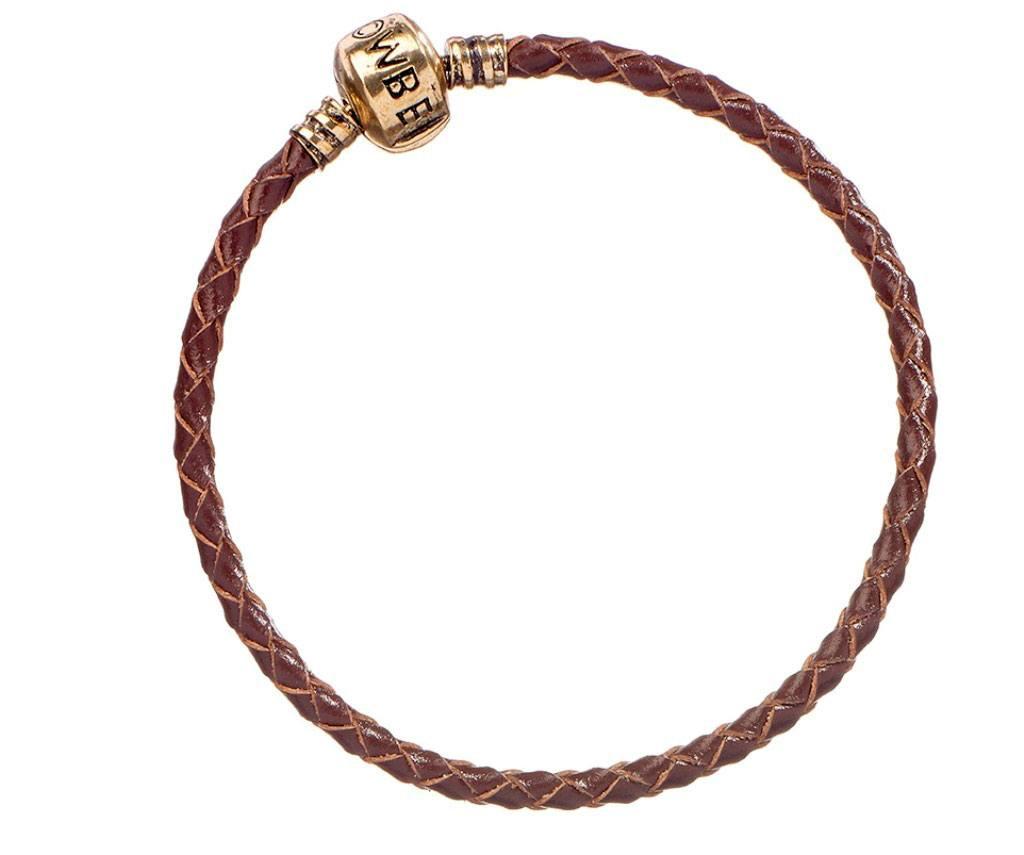 Fantastic Beasts Slider Charm Leather Bracelet brown Size XS