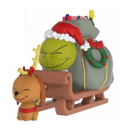 The Grinch POP! Ridez Vinyl Vehicle with Dorbz Figure Grinch, Max & Sled 24 cm