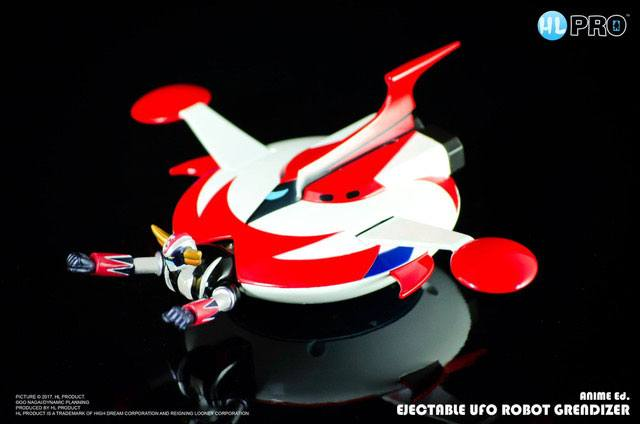 UFO Robot Grendizer Diecast Replica Spacer with Ejectable Grendizer 20th Anniversary Ver. 15 cm