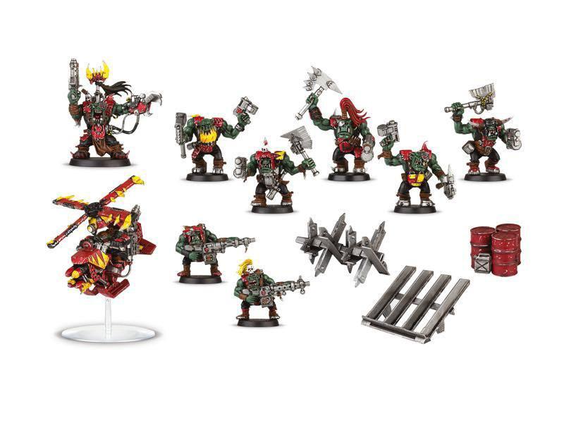 Warhammer 40K Build+Paint Model Set Series 1 Space Ork Raiders
