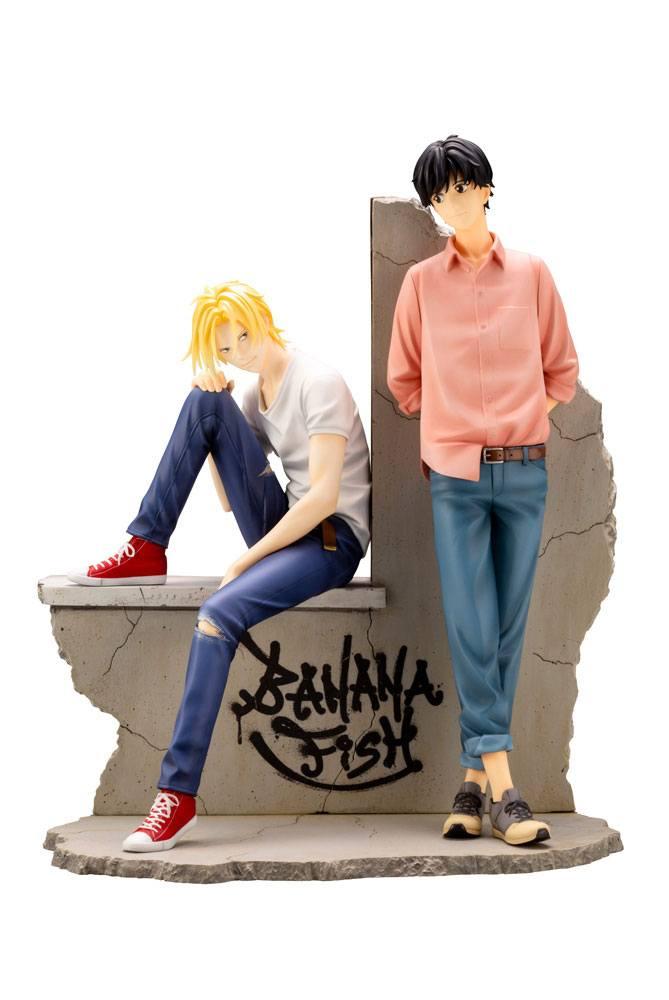 Banana Fish PVC ARTFXJ Statue 1/8 Ash Lynx & Eiji Okumura 25 cm