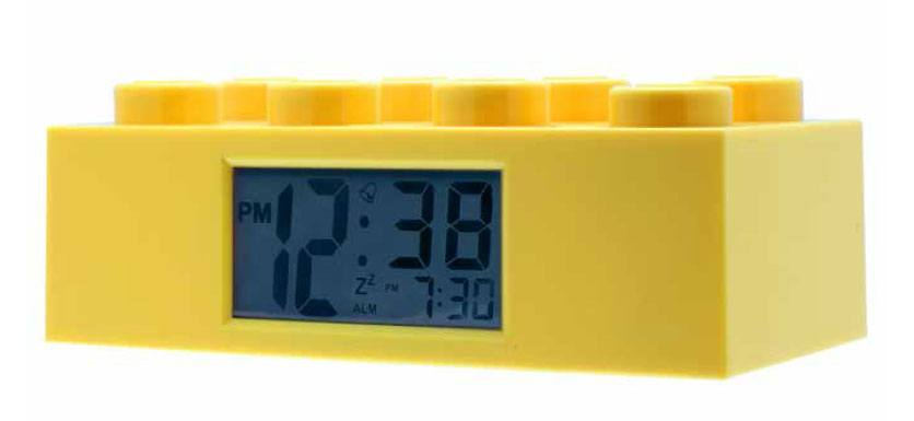 Lego Alarm Clock Lego Brick yellow