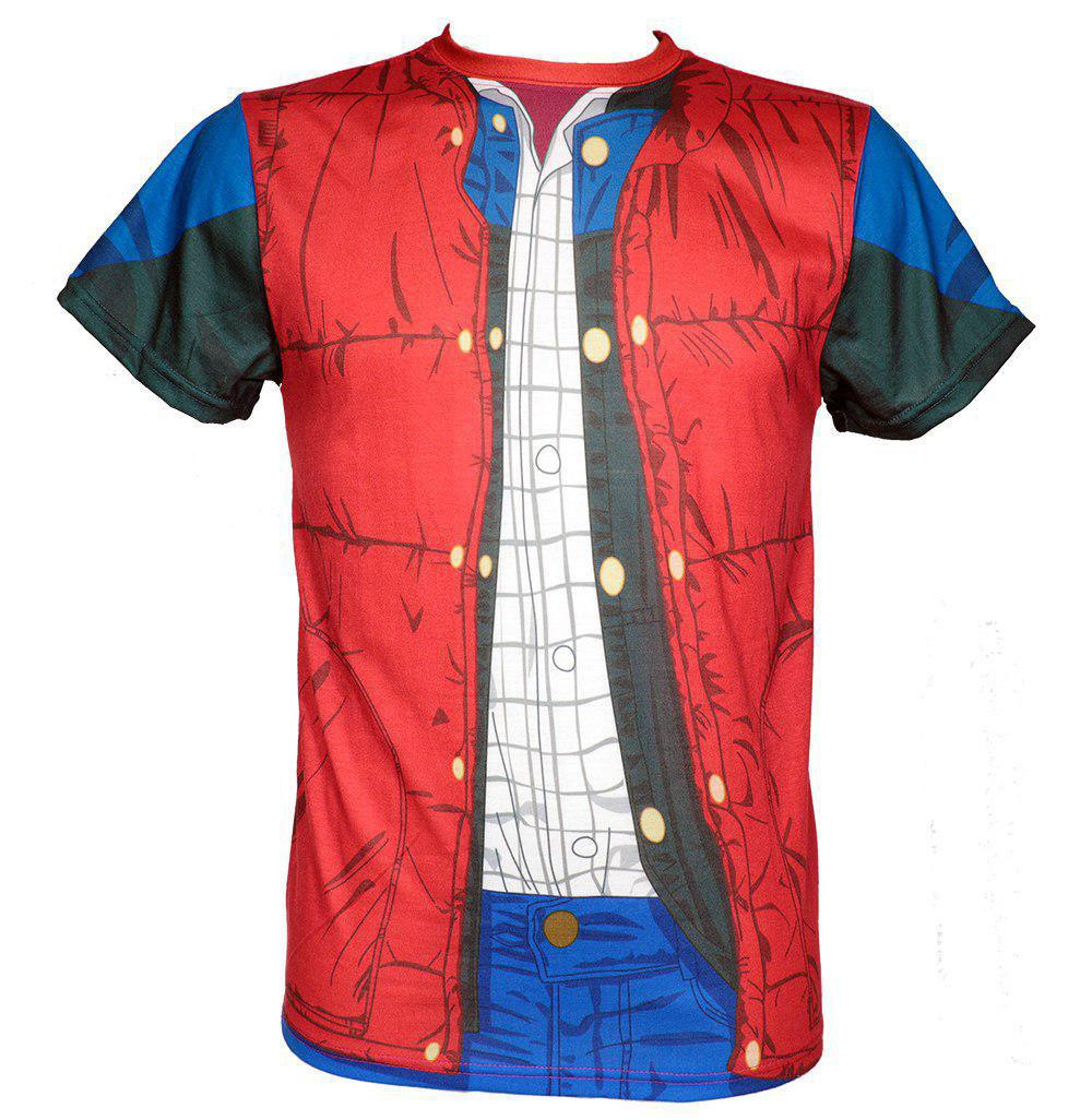 Back to the Future Sublimation T-Shirt Marty McFly Costume Size L