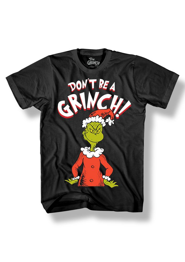 Grinch T-Shirt Don't Be Grinch Size S
