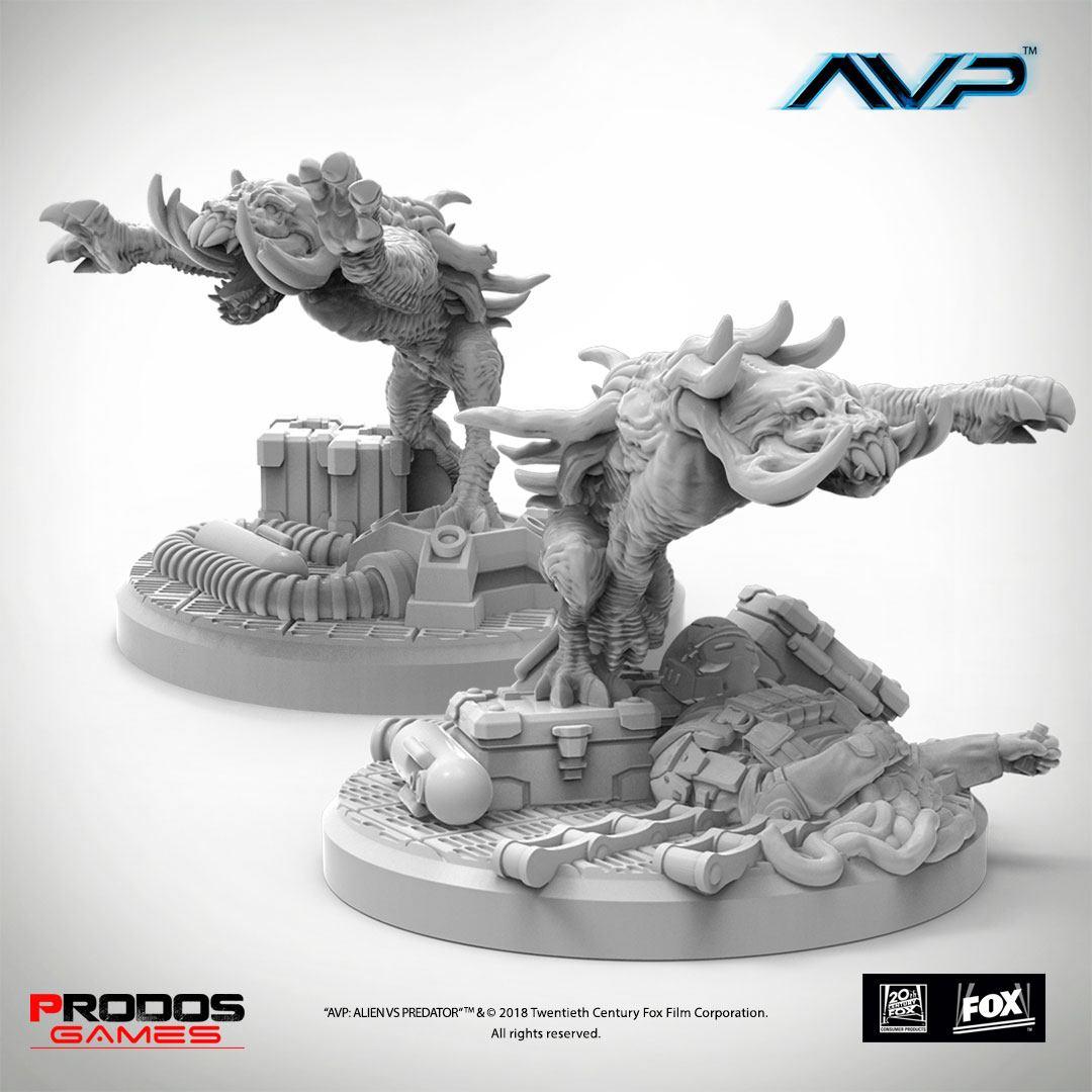 AvP Tabletop Game The Hunt Begins Expansion Pack Predator Hellhounds UniCast Edition *German Version