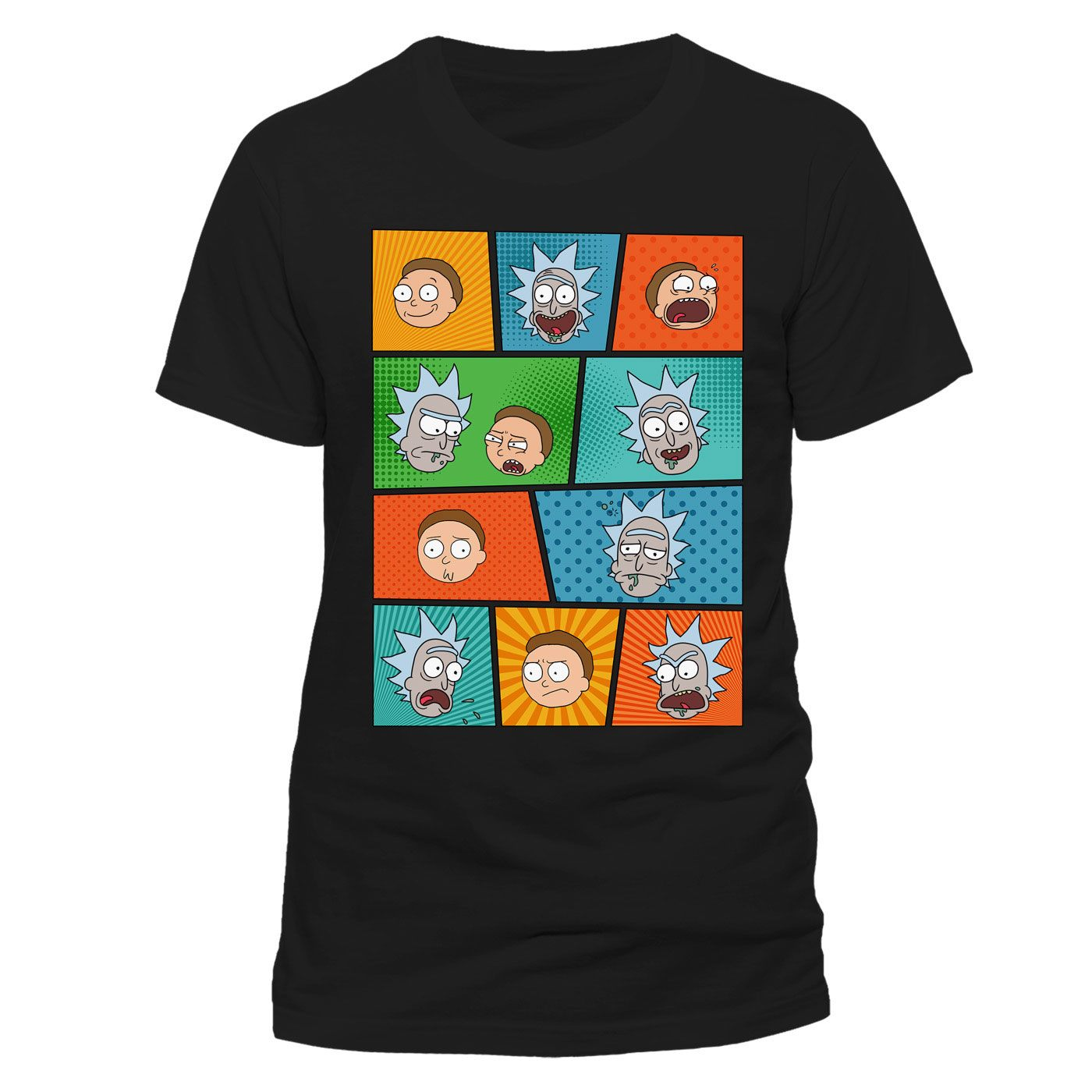 Rick and Morty T-Shirt Pop Art Faces Size L