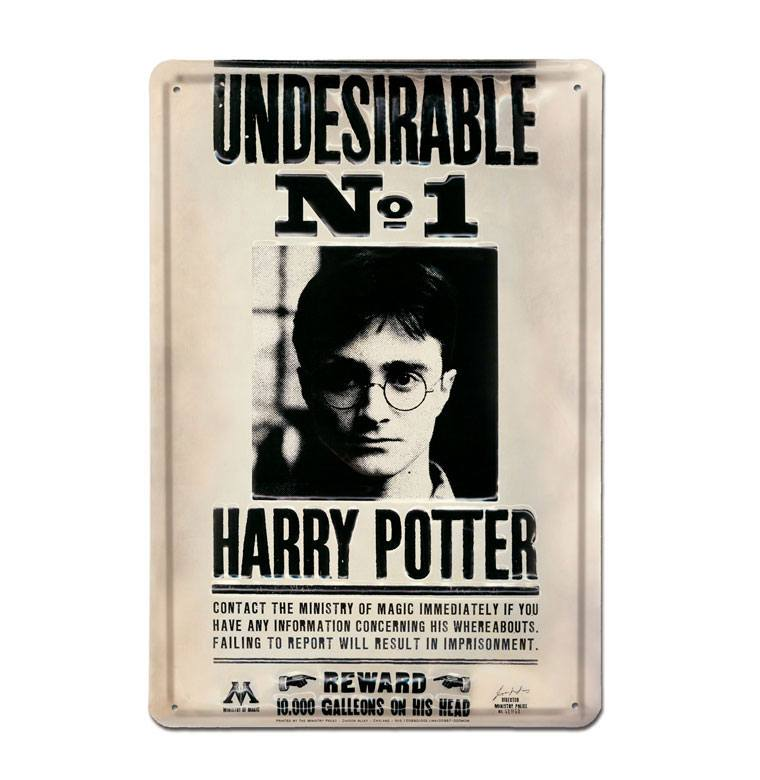Harry Potter 3D Tin Sign Undesirable No 1 20 x 30 cm