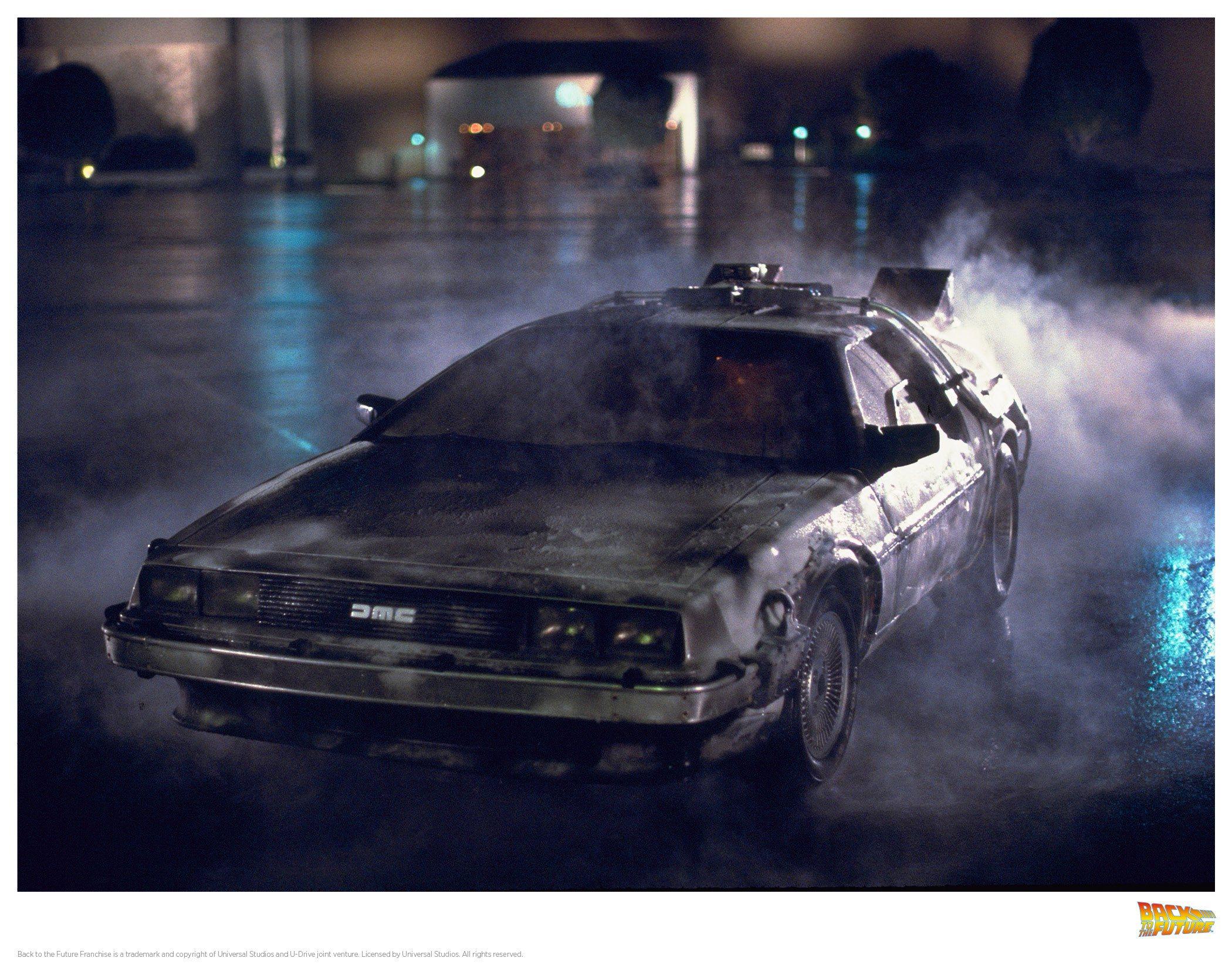 Back to the Future Art Print DeLorean 1 35 x 28 cm