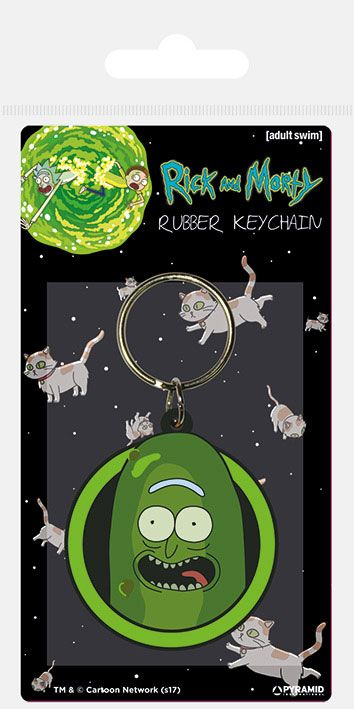 Rick and Morty Rubber Keychain Pickle Rick 6 cm
