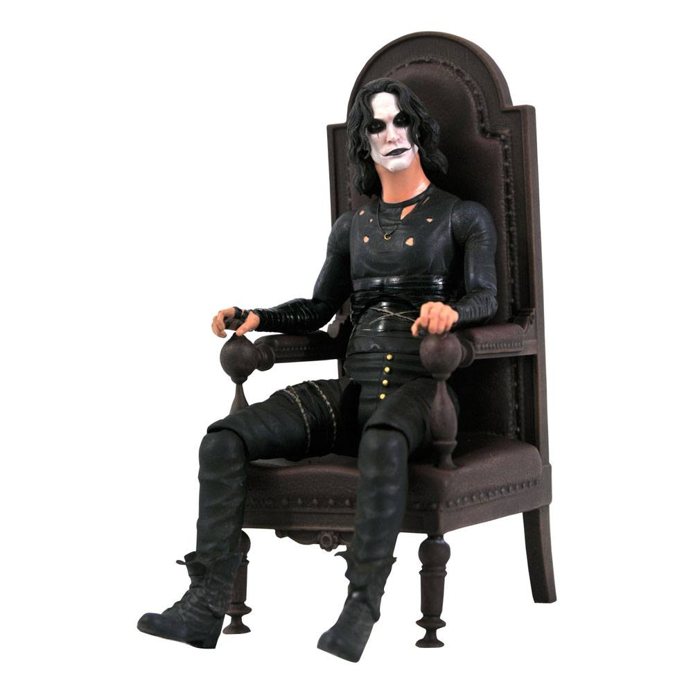 The Crow Deluxe Action Figure Eric Draven in Chair SDCC 2021 Exclusive 18 cm