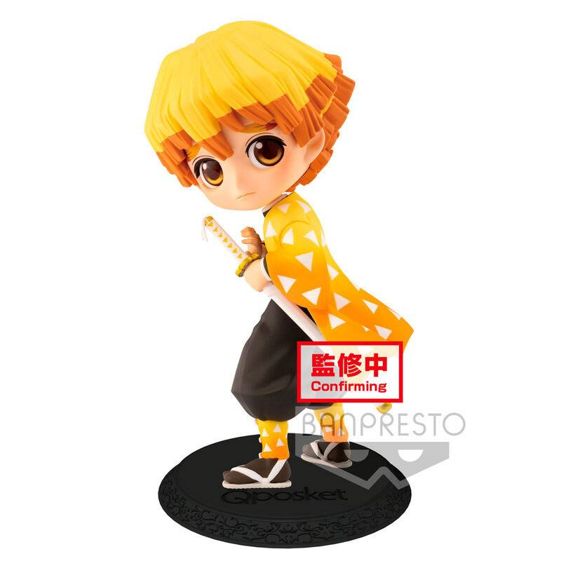 Demon Slayer Kimetsu no Yaiba Q Posket Mini Figure Zenitsu Agatsuma Ver. A 14 cm