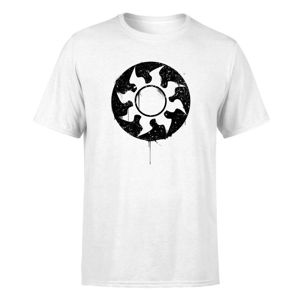 Magic the Gathering T-Shirt White Mana Splatter Size XXL